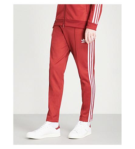 ADIDAS Beckenbauer cotton-blend jogging bottoms (Rust+red+f15-st