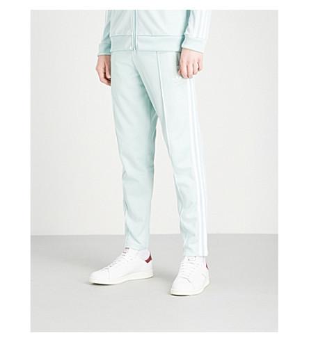ADIDAS Beckenbauer cotton-blend jogging bottoms (Ash+green+s18