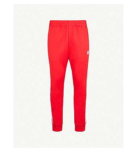 ADIDAS Logo jersey jogging bottoms (Scarlet