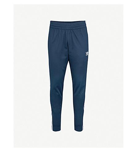 ADIDAS Popper-fastening cotton-blend jogging bottoms (Collegiate+navy