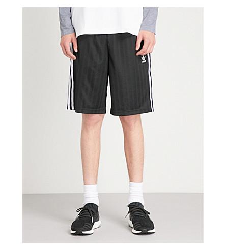 de logo corto de Pantalón de Negro fútbol ADIDAS con estampado satén 8xdd0qwtZ