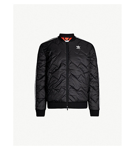 ADIDAS Quilted padded shell jacket (Black
