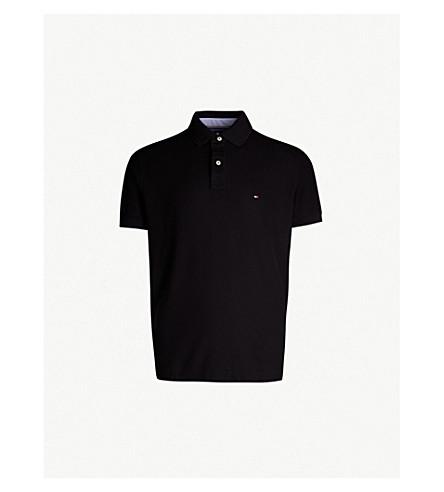 bb4d57b4ac5c7 TOMMY HILFIGER Regular-fit cotton-piqué polo shirt (Flag+black
