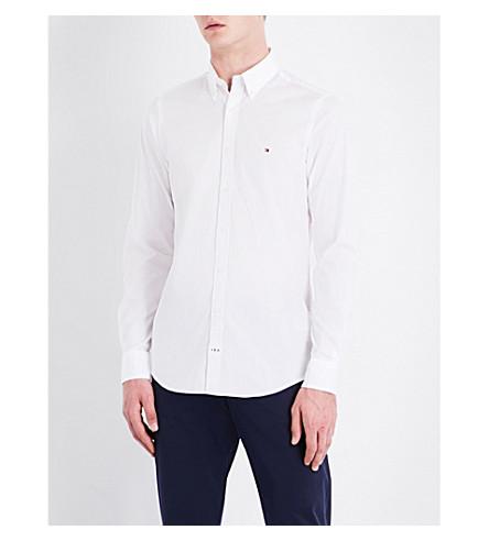 TOMMY HILFIGER Core slim-fit stretch-cotton shirt (White