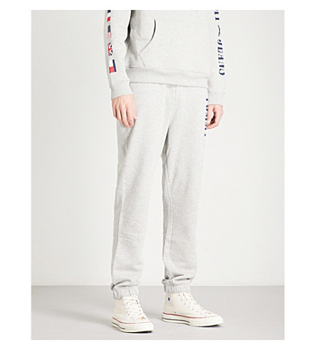 TOMMY JEANS 90s relaxed-fit mid-rise cotton-blend jogging bottoms (Grey+marl