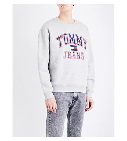 TOMMY JEANS '90s cotton-jersey sweatshirt (Grey+marl