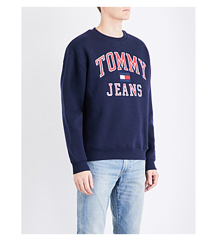 TOMMY JEANS '90s cotton-jersey sweatshirt (Peacoat