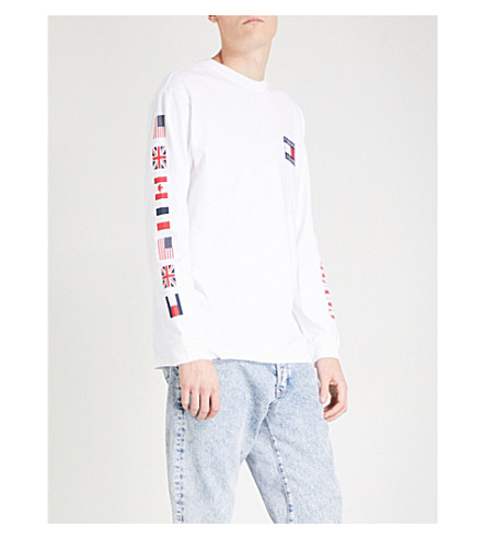 TOMMY JEANS 90s cotton-jersey top (Bright+white