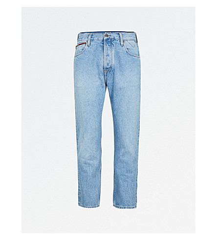 TOMMY JEANS Relaxed-fit tapered jeans (Light+blue+rigid