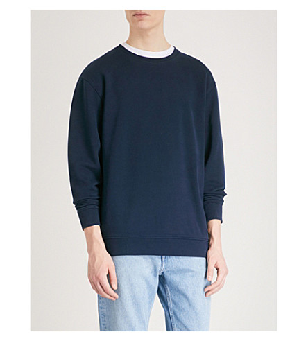 TOMMY JEANS Contemporary cotton-jersey sweatshirt (Black+iris