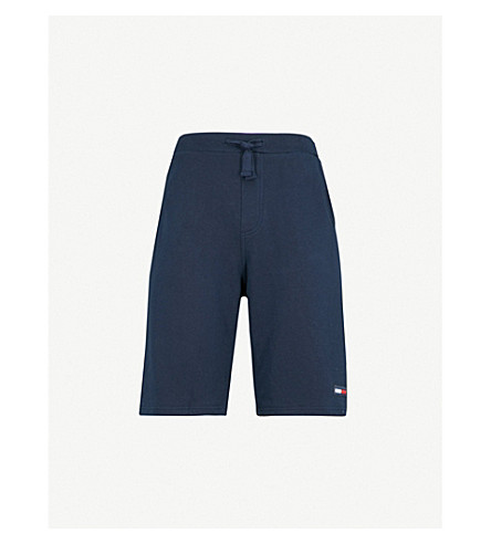 TOMMY JEANS Contemporary cotton-jersey shorts (Black+iris(navy)