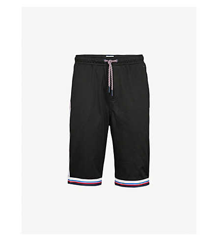 TOMMY JEANS Striped jersey shorts (Tommy+black