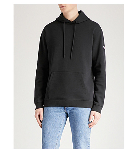 TOMMY JEANS Logo-print cotton-jersey hoody (Tommy+black
