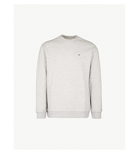 TOMMY JEANS Classics logo-embroidered cotton-blend sweatshirt (Grey
