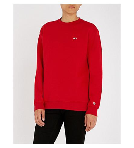 JEANS bordada en algodón Classics Sudadera TOMMY roja Cxwq554p