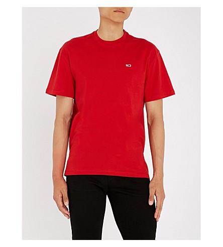 logo TOMMY Camiseta algodón Classics JEANS con camiseta camiseta roja de dPdrq1Iwn