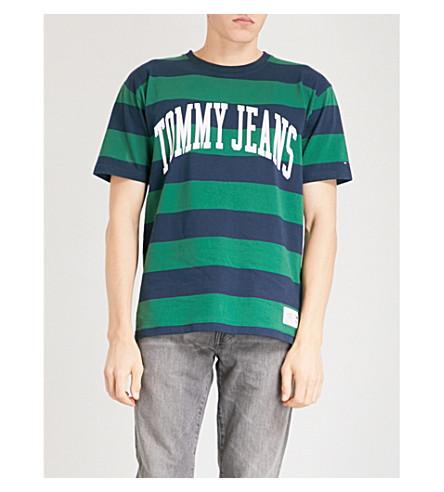 TOMMY JEANS Collegiate cotton-jersey t-shirt (Eden