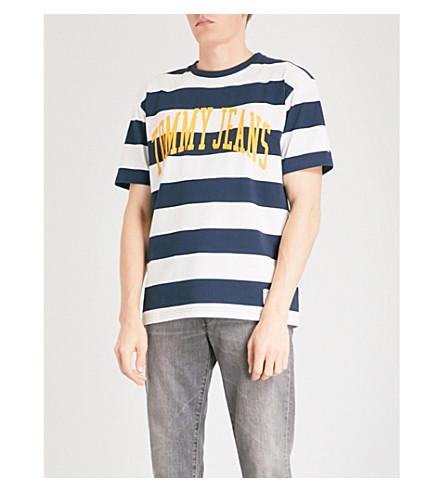 TOMMY JEANS Collegiate cotton-jersey t-shirt (Navy+blazer