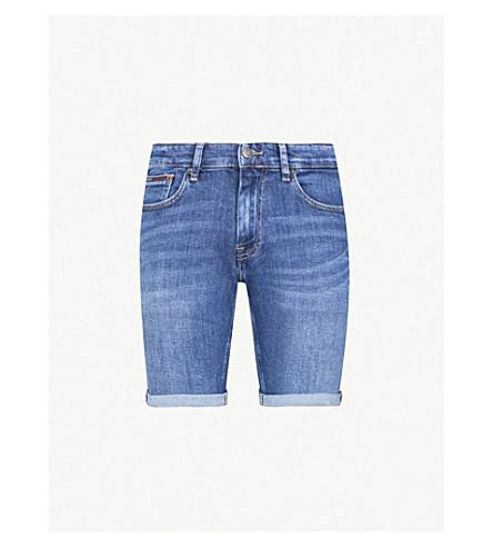 TOMMY JEANSScanton 瘦身弹力牛仔短裤 (蓝色