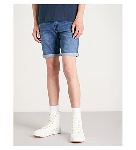 TOMMY JEANS Scanton slim-fit stretch-denim shorts Blue Cheap Lowest Price yjyUoADb