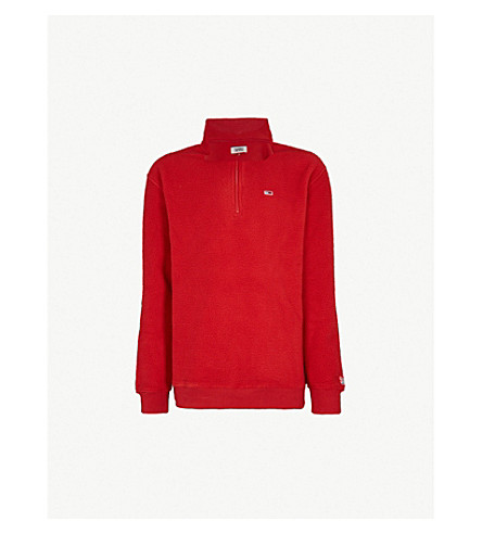 TOMMY JEANS Funnel-neck fleece sweatshirt (Samba