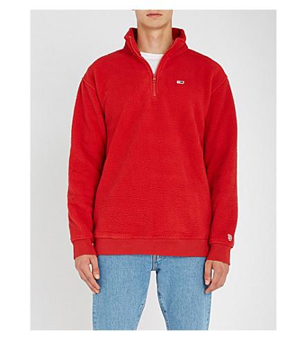 TOMMY JEANS Funnel-neck fleece sweatshirt (Samba