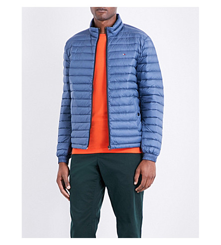 TOMMY HILFIGER Down-filled quilted shell jacket (Ensign+blue