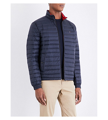 TOMMY HILFIGER Down-filled quilted shell jacket (Sky+captain