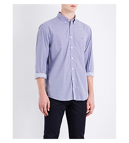TOMMY HILFIGER Annick New York-fit cotton shirt (Blue+depths+/+multi