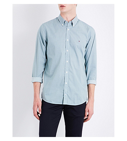 TOMMY HILFIGER Ryan slim-fit cotton shirt (Mediterranea/white