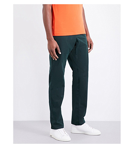 TOMMY HILFIGER Denton relaxed-fit straight stretch-cotton chinos (Scarab