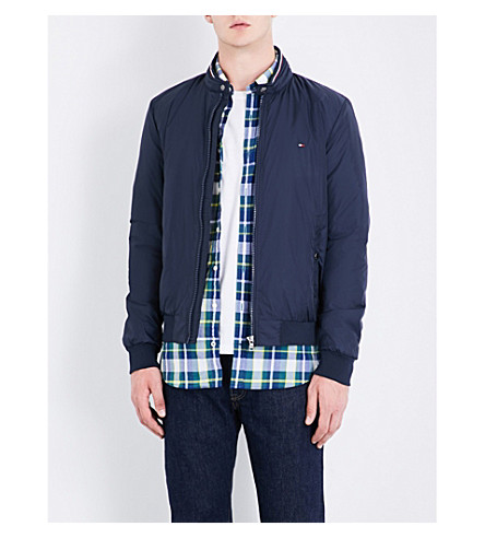 TOMMY HILFIGER Eli quilted shell bomber jacket (Sky+captain