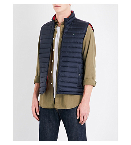 TOMMY HILFIGER Down-filled quilted shell gilet (Sky+captain