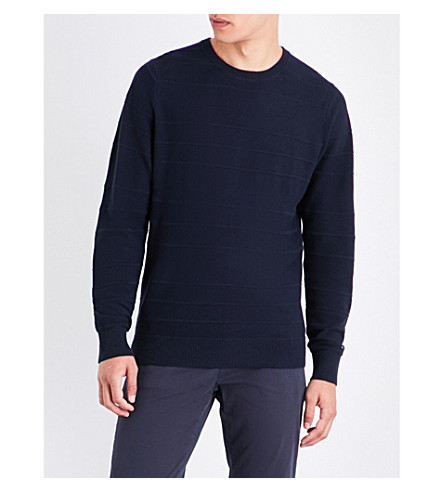 TOMMY HILFIGER Brody knitted cotton jumper (Sky+captain