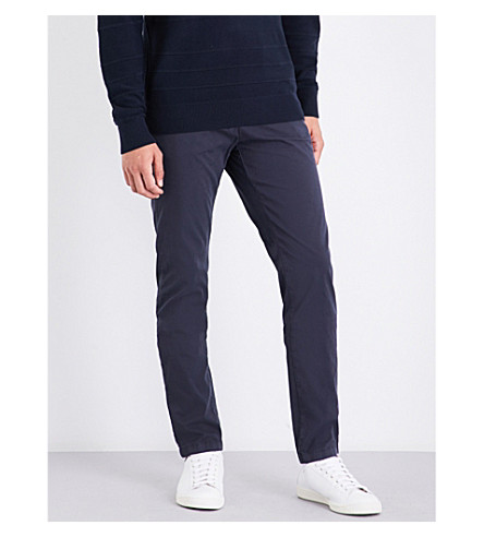 TOMMY HILFIGER Denton straight mid-rise stretch-cotton chinos (Sky+captain