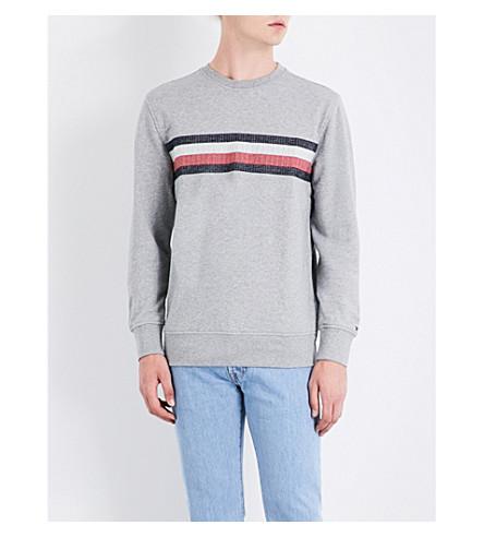 TOMMY HILFIGER Lake stretch-cotton sweatshirt (Cloud+htr