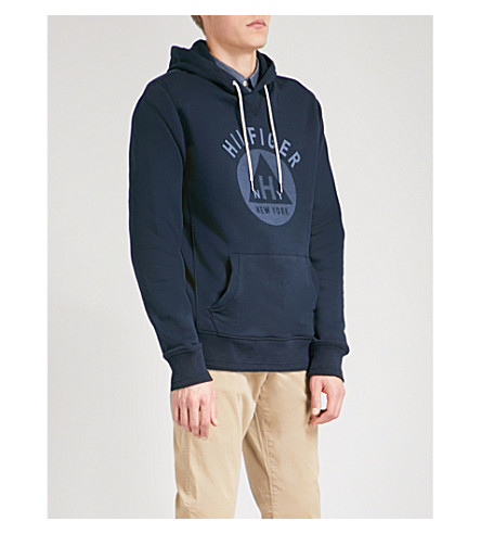 TOMMY HILFIGER Penley cotton-blend hoody (Sky+captain