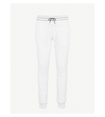 TOMMY HILFIGER Shane cotton-blend jersey tapered jogging bottoms (Snow white