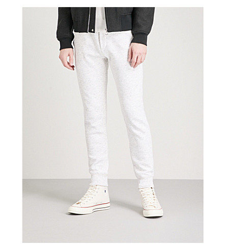 TOMMY HILFIGER Shane cotton-blend jersey tapered jogging bottoms (Snow+white