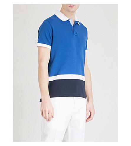 TOMMY HILFIGER Adel cotton-piqué polo shirt (Limoges/wht/sky+cap