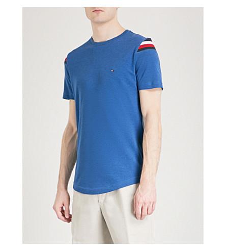 TOMMY HILFIGER Donny cotton-blend piqué T-shirt (Limoges