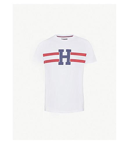 TOMMY HILFIGER Brad printed cotton-jersey T-shirt (Bright+white