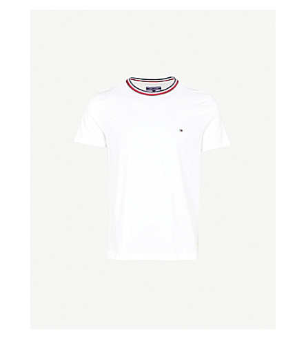 TOMMY HILFIGER Felix cotton-jersey T-shirt (Bright+white