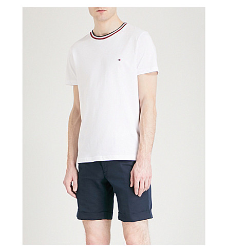 TOMMY HILFIGER Felix cotton-jersey T-shirt (Bright+white