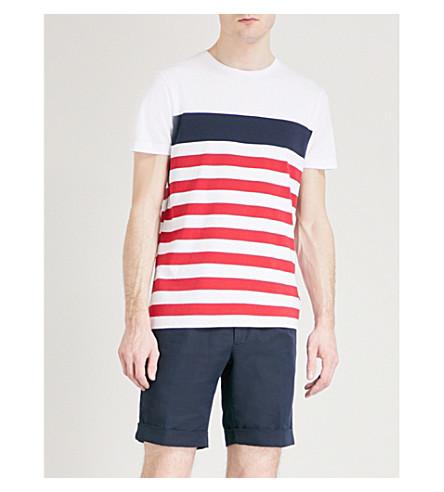 TOMMY HILFIGER Nas striped cotton-jersey T-shirt (Bright+white