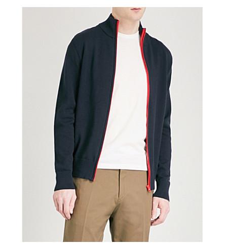 TOMMY HILFIGER Funnel-neck cotton-blend jacket (Sky+captain