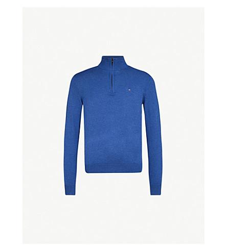 TOMMY HILFIGER Zip-up cotton and silk-blend jumper (Limogues+heather