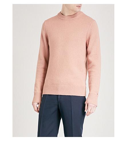 TOMMY HILFIGER Hampton wool-blend jumper (Dusty+rose+htr
