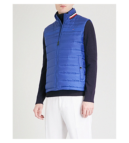 TOMMY HILFIGER Coeen padded shell, down and feather blend gilet (Mazarine+blue