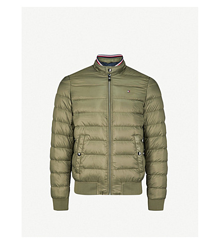 TOMMY HILFIGER Arlos shell down and feather blend bomber jacket (Deep+depths